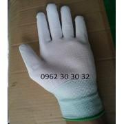 Găng tay PU phủ bàn trắng