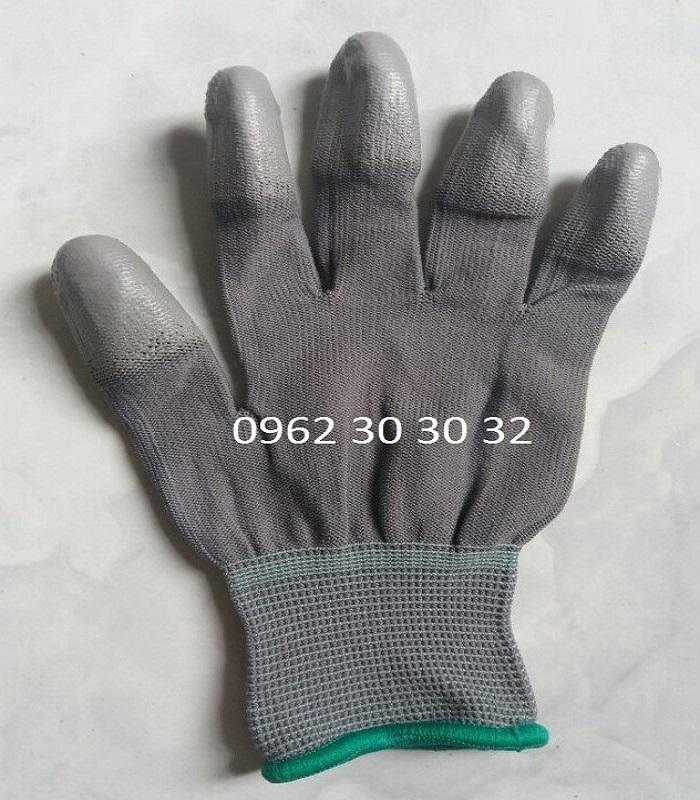 Găng tay PU phủ ngón xám
